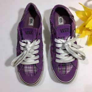 Vans Shoes - VANS Purple SUEDE Plaid Tory Sneakers Size 9